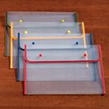 Desk & Computer Accessories - Fabric Edged Clear Plastic Envelopes