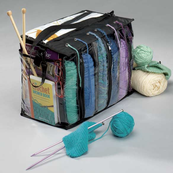 Knitting Pattern Storage Bag : Knitting Tote Bag - Yarn Tote Bag - Crochet Tote Bag ...