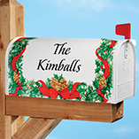 Pine Wreath Personalized Magnetic Mailbox Cover