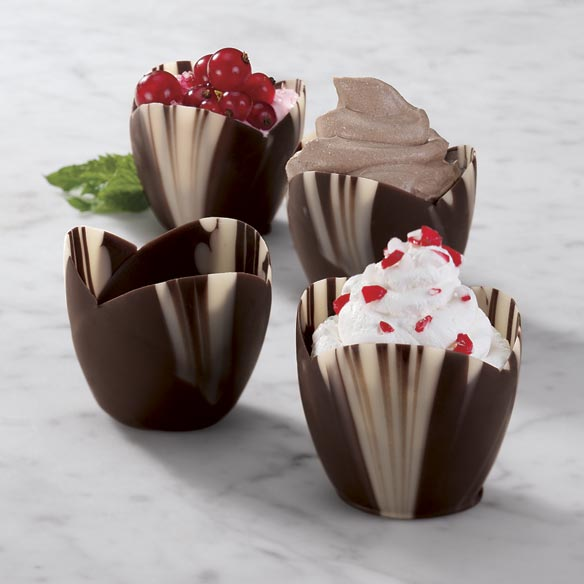 Mini Marble Chocolate Dessert Cups