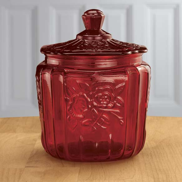 Red Biscuit Jar