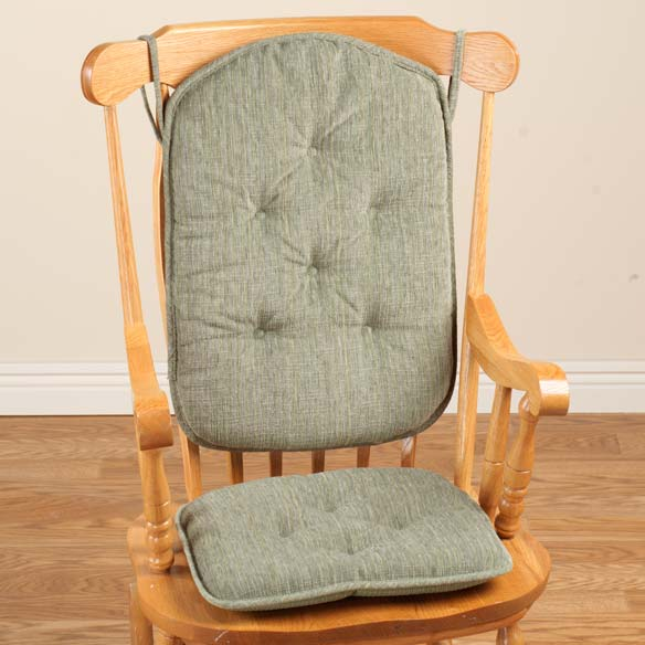 Chenille High Back Rocking Chair Cushions