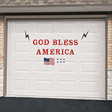 4th of July - Patriotic Garage Door Magnet Set