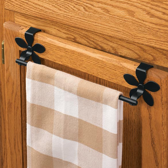 Over The Cabinet Towel Bar - Flower