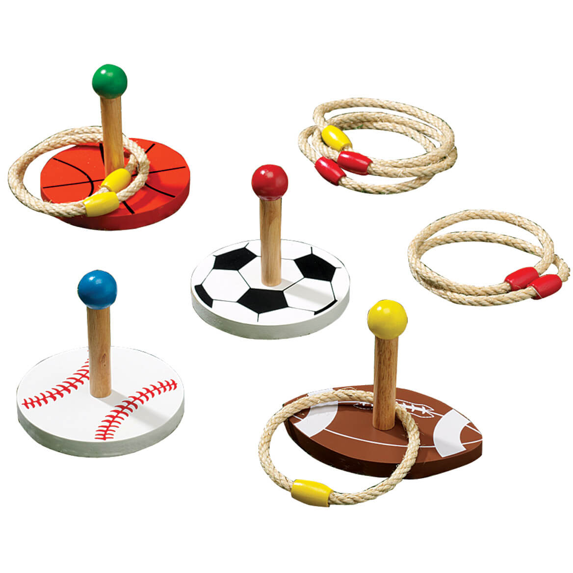 Sports Ring Toss Game Wooden Ring Toss Game Miles Kimball