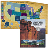 America the Beautiful Collectors Quarter Map