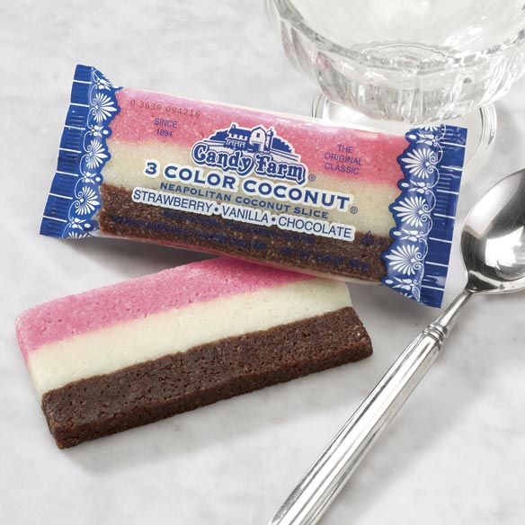 Neapolitan Coconut Rainbow Bars 2 Pack