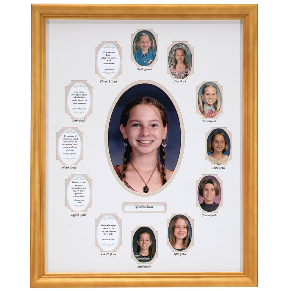 School Years Collage Frame (Beige) - School Years Picture Frame ...