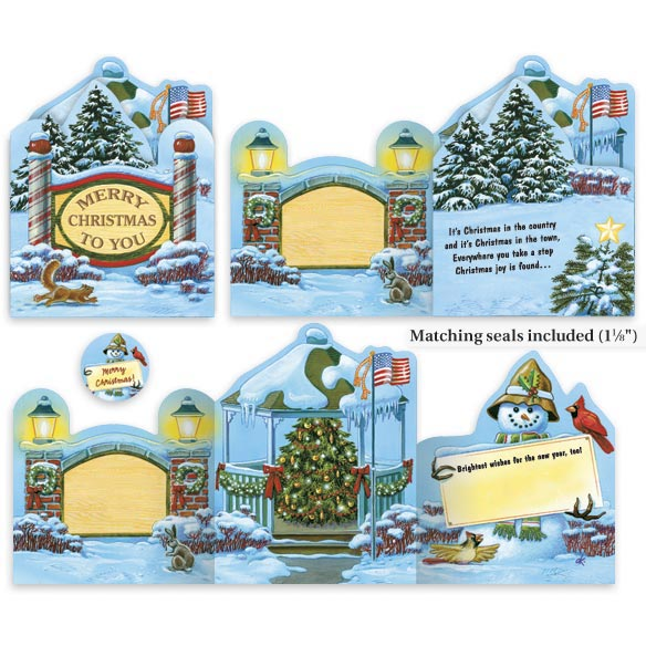 Your Town Square Christmas Card Set/20