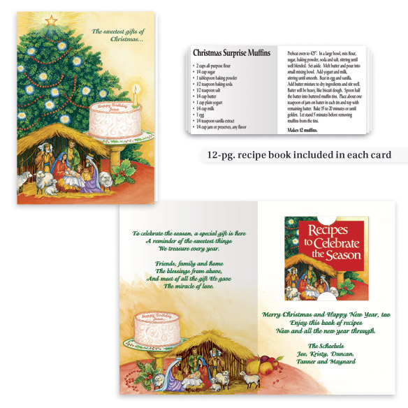 Personalized Recipes Of Christmas Card Set