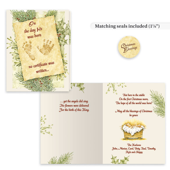 Christmas Certificate Card Set/20