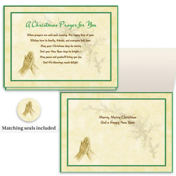 Christmas Prayer Card Set