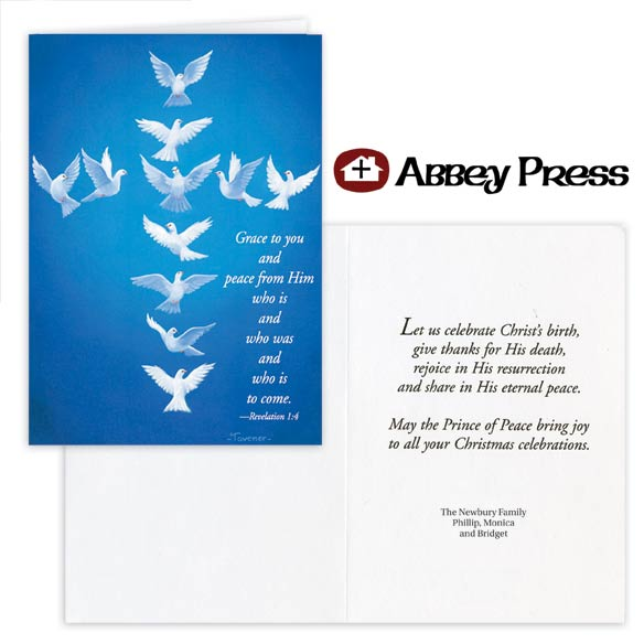 Dove Cross Christmas Card Set of 20
