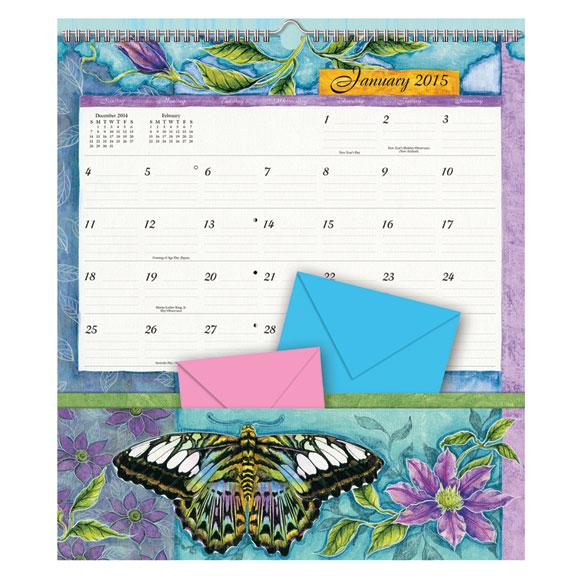 Butterfly 12 Pocket Wall Calendar