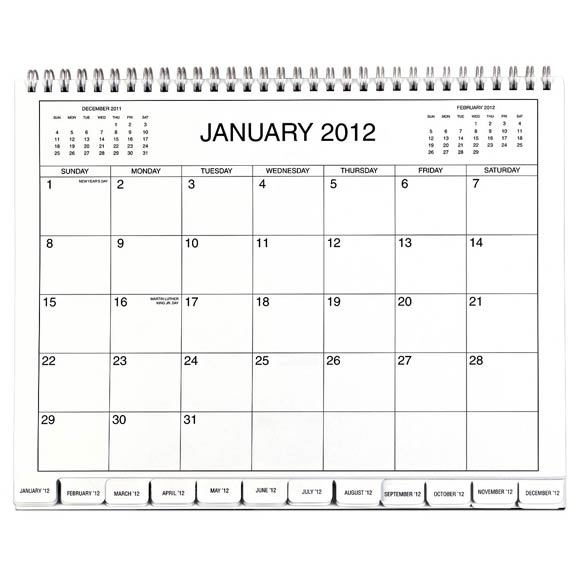3 Year Calendar 2012-2014