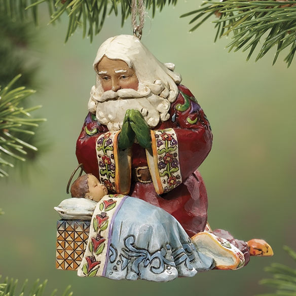 Santa And Baby Jim Shore Ornament