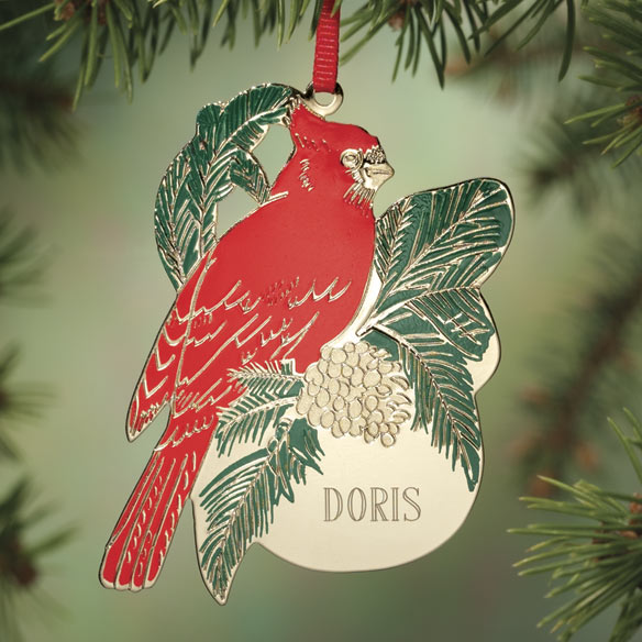 Personalized Cardinal Christmas Ornament