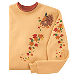 Cascading Leaves and Turkey Sweatshirt