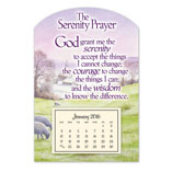 Home Office - Mini Serenity Prayer Magnet Calendar