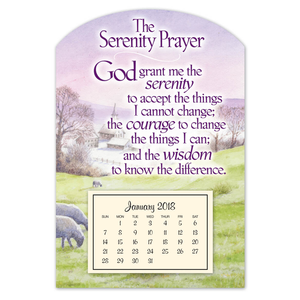 Mini Magnetic Serenity Prayer Calendar