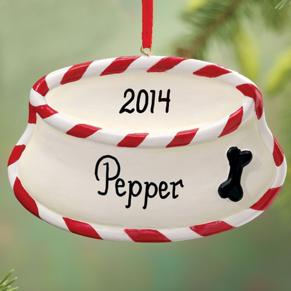 Personalized Dog Bowl Ornament