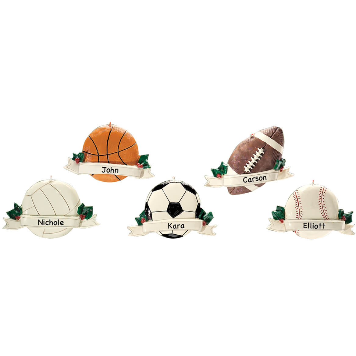 Personalized Sports Ball Ornaments-334667