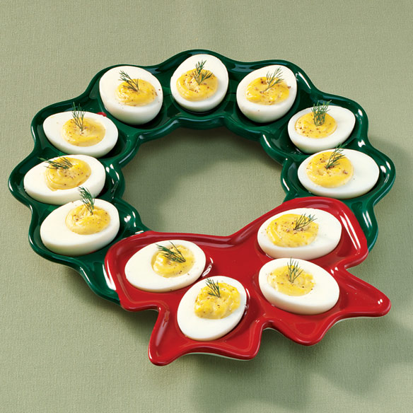 Christmas Deviled Egg Plate