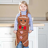Santa Letters & Childrens Gifts - Personalized Kids Gingerbread Apron