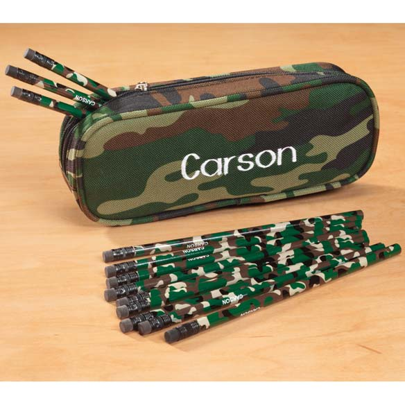 Personalized Camouflage Pencil Case