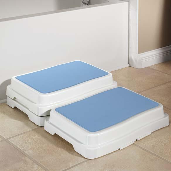 bath safety step bath step stool shower step stool miles kimball. Black Bedroom Furniture Sets. Home Design Ideas
