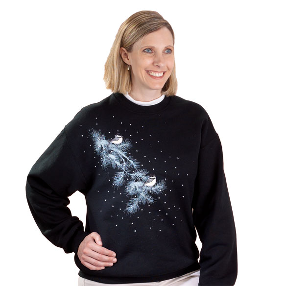 Midnight Chickadees Sweatshirt