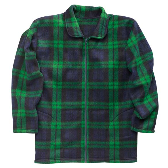 Plaid Fleece Jacket