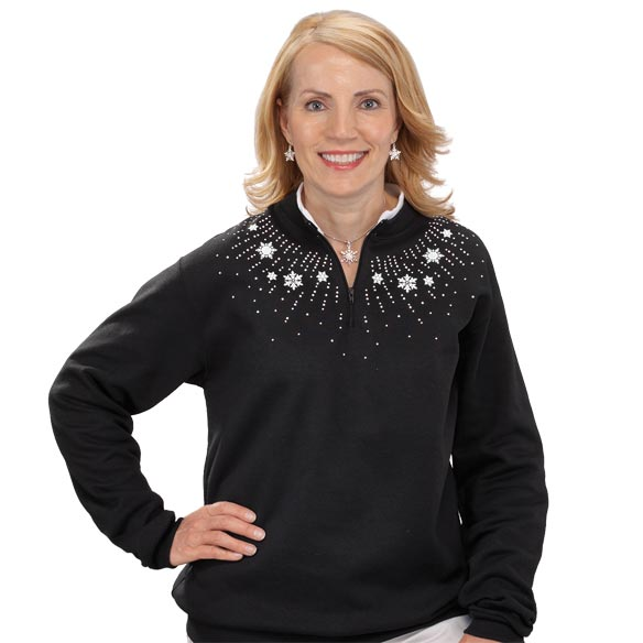 Snowflake Spray Sweatshirt
