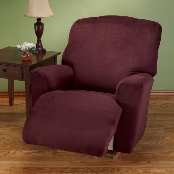Faux Suede Large Recliner Slipcover Set
