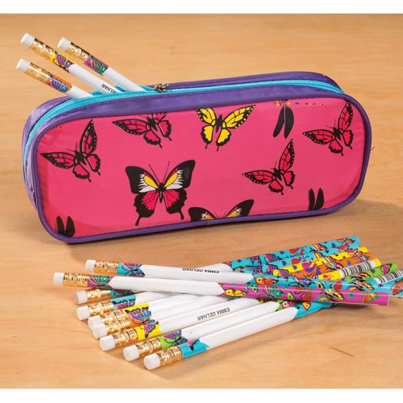 Personalized Butterflies Pencil Case
