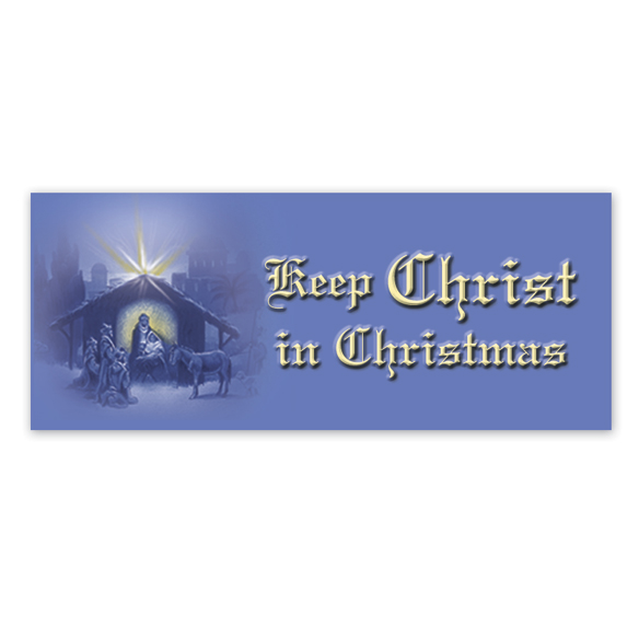 Christ in Christmas Envelope Seals - Set of 100