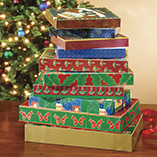 Wrapping & Gift Giving - Christmas Gift Boxes - Set Of 10