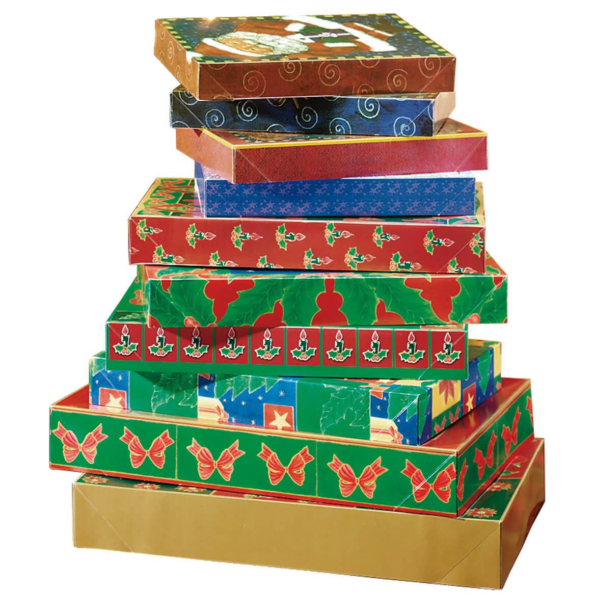 Christmas Gift Boxes Set Of 10