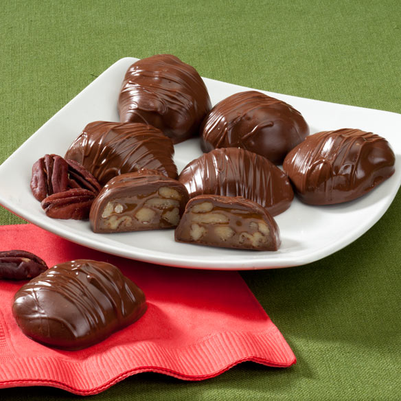 Chocolate Covered Texas Chewie® Pecan Praline 10 oz - Chocolate ...