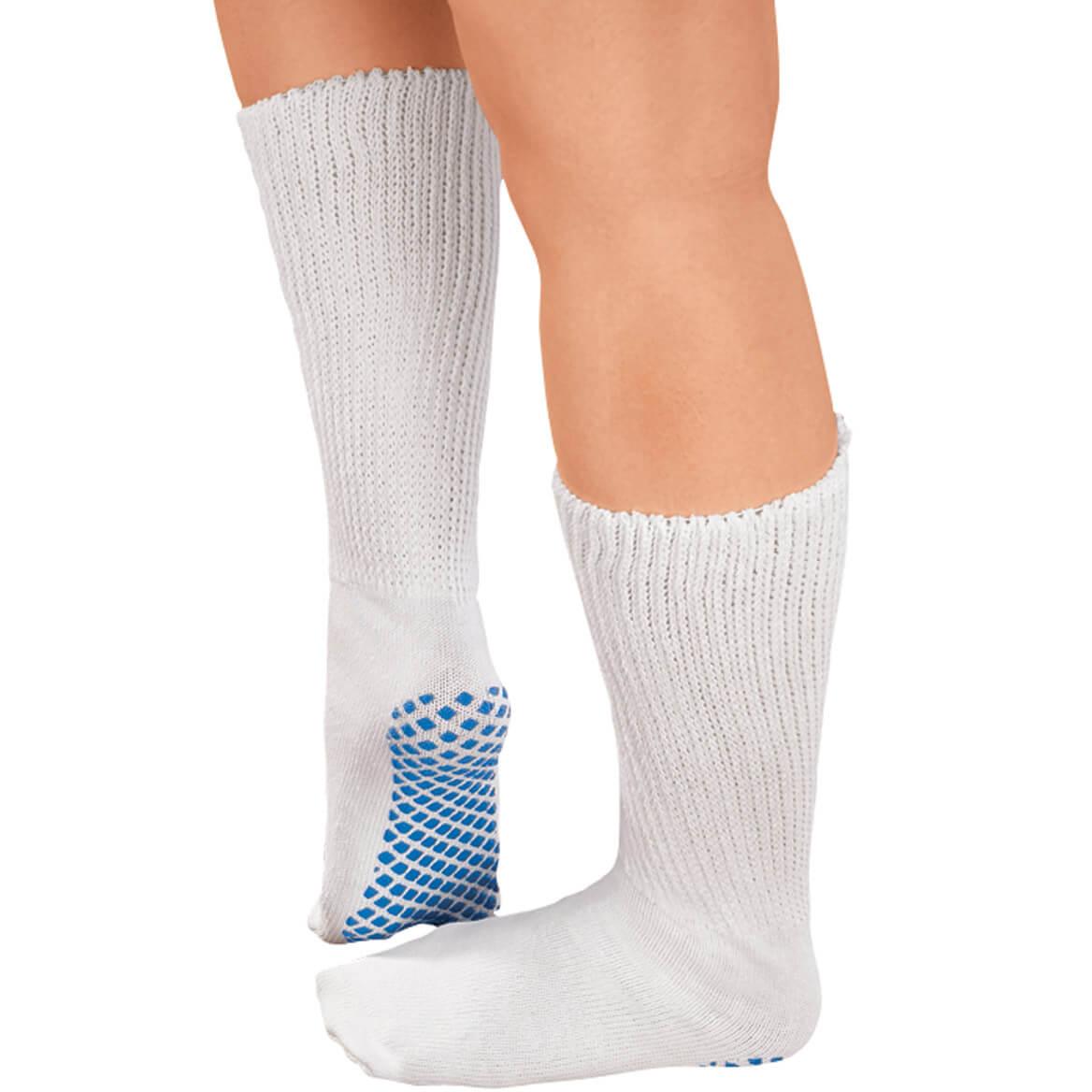 Diabetic Slipper Socks With Gripper Soles-336019