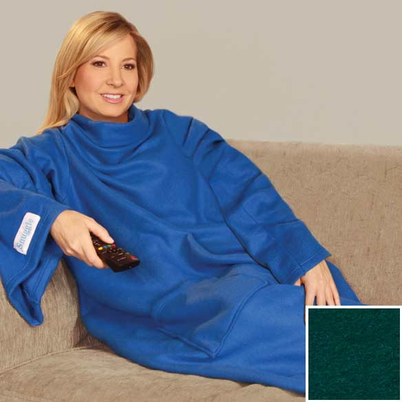 Plain Green Snuggie with Pocket