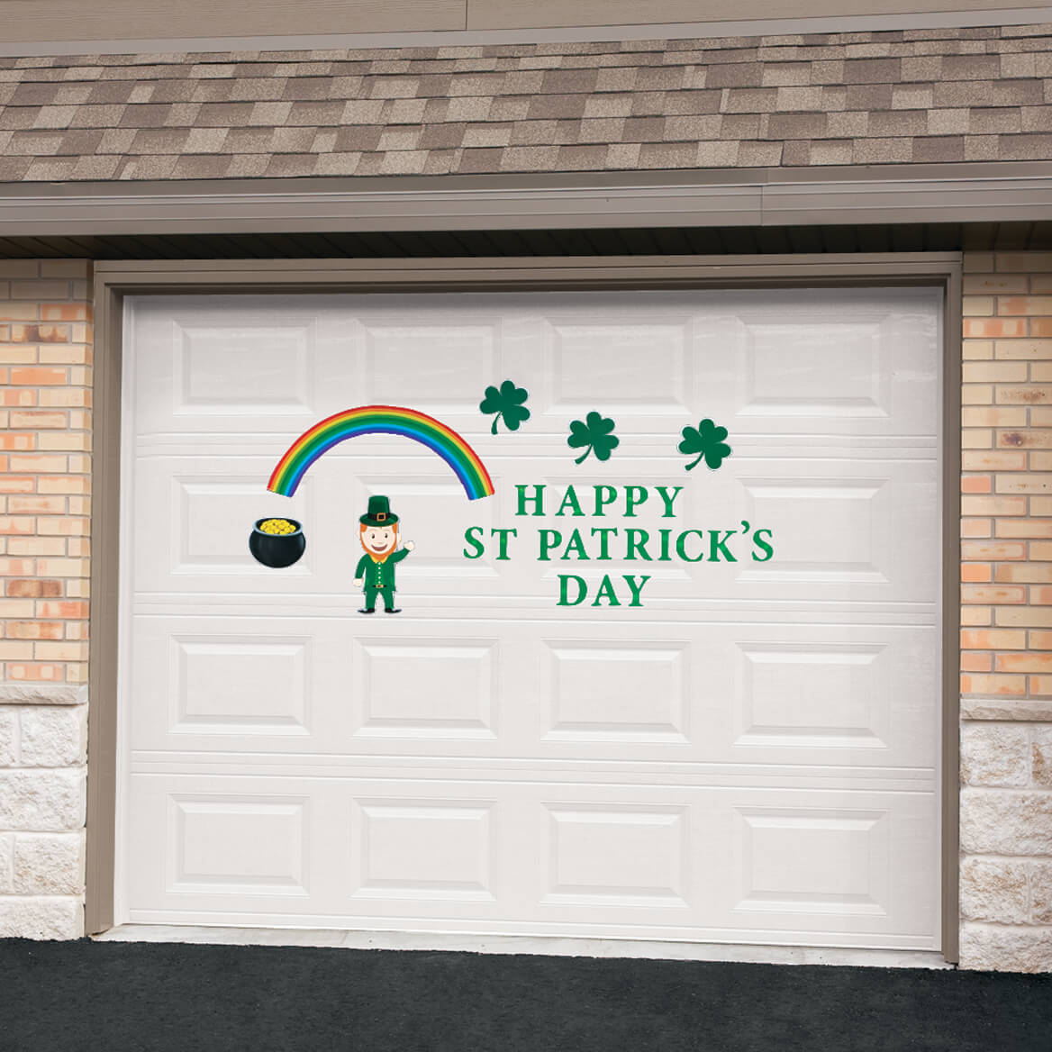 st patricks day garage door magnet set