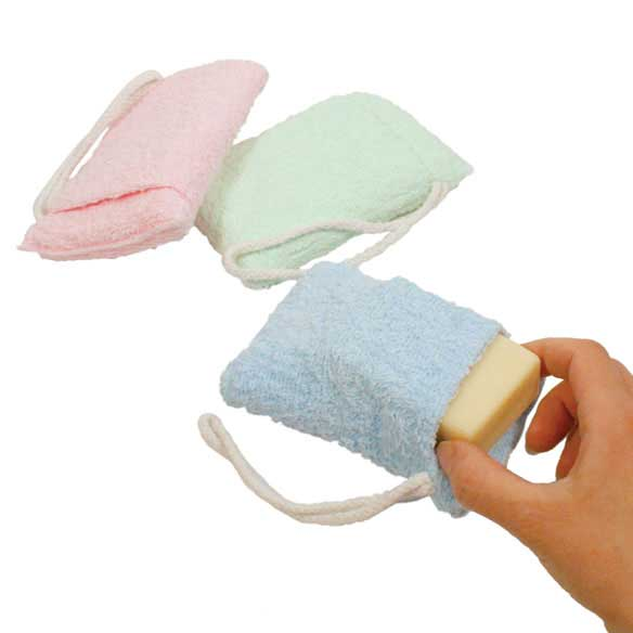 Terry Cloth Soap Saver Bags - Set of 3
