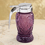 Amethyst Glass Syrup Dispenser Strawberry Design