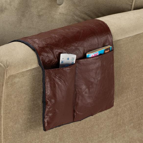 Leather Armchair Caddy - Armchair Caddy Organizer - Miles ...