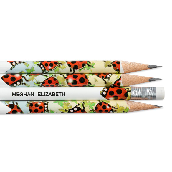 Ladybug Pencils - Set of 12