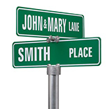 Home - Personalized One Sided Street Sign