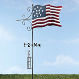 Patriotic Garden Stake with Rain Gauge