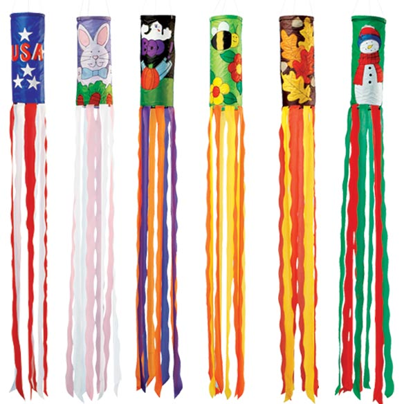 Holiday Windsocks Set of 6
