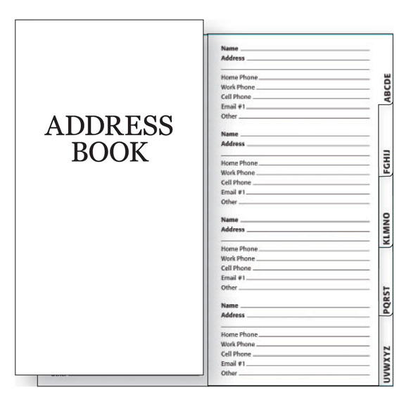 2 Year Address Book Refills